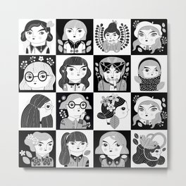 ALL THE GIRLS / B&W VERSION Metal Print