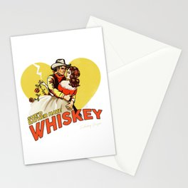 """""""She'd Rather Have Whiskey"""" Vintage Western Art Stationery Cards"""