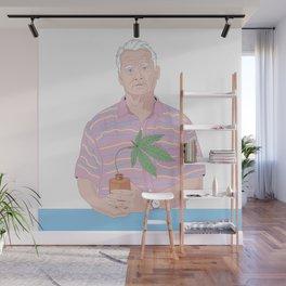 Bill Murray holding a pot Wall Mural