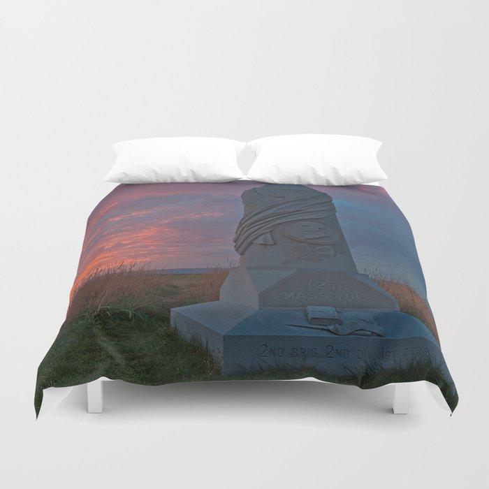 Gettysburg Sunset Duvet Cover
