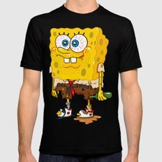 SpongeSlob DirtyPants Mens Fitted Tee Black SMALL