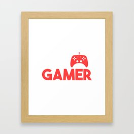 Dad by Day Gamer by Night Player Gaming Nerd Gift Framed Art Print