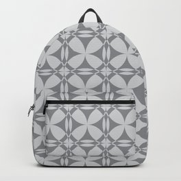Abstract Circles - Gray Pattern Backpack