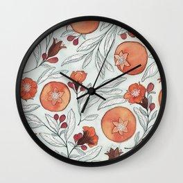 Young Pomegranates Wall Clock