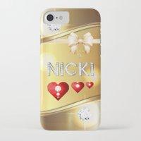 nicki iPhone & iPod Cases featuring Nicki 01 by Daftblue
