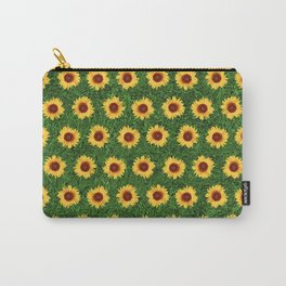 Sunflower Field - Green Carry-All Pouch