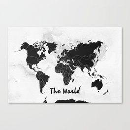 The world -map Canvas Print