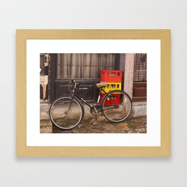 Worn Bicycle Framed Art Print