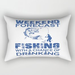 WEEKEND FORECAST FISHING Rectangular Pillow