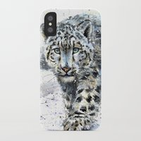 snow leopard iPhone & iPod Cases featuring snow leopard by KOSTART