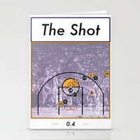 lakers Stationery Cards featuring The Shot Series, Derek Fisher by Dyllin Shane