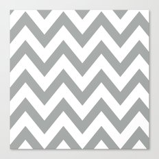 Gray Chevron Canvas Print
