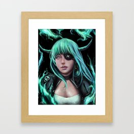 Demon girl Framed Art Print