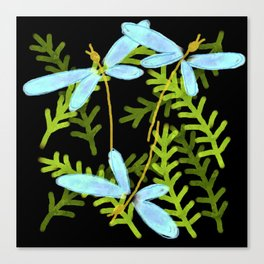 Dragonfly Dance Abstract Digital Painting Canvas Print