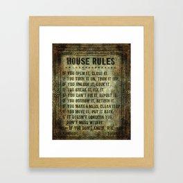 House Rules Framed Art Print