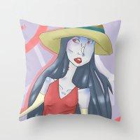 marceline Throw Pillows featuring marceline!! by clairen0vak