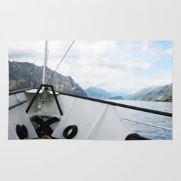 Boat on Lake Garda Rug