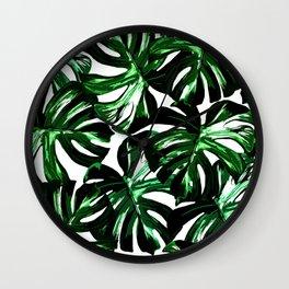 Monstera Jungle Leaf Wall Clock
