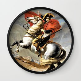 Jacques-Louis David - Napoleon Crossing The Alps - Digital Remastered Edition Wall Clock
