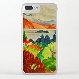 Vintage Lake Wanaka New Zealand Travel Clear iPhone Case