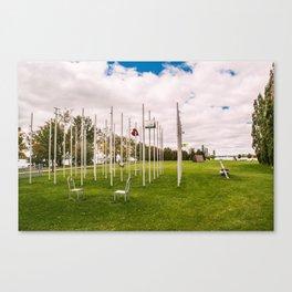 Pole Art Canvas Print