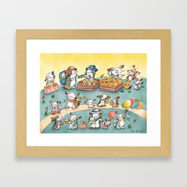 The Farmers Market Framed Art Print