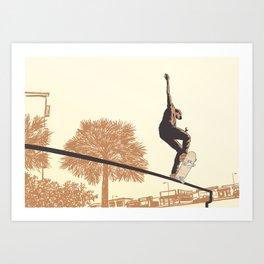 SKATER CROOKED Art Print