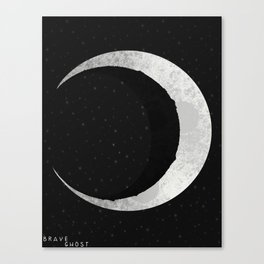 Broken Luna Canvas Print
