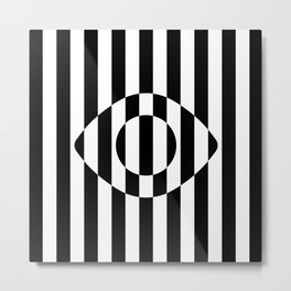 Big Brother Eye || B&W Metal Print