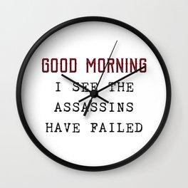 The Assassins Failed Wall Clock