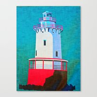 lighthouse Canvas Prints featuring Lighthouse by Judy Palkimas