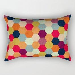 Colorful Beehive Pattern Rectangular Pillow