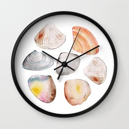 seven seashells Wall Clock