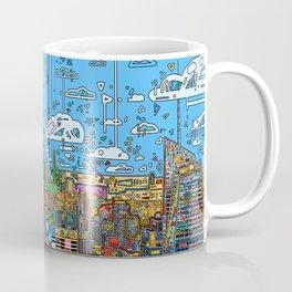 new york city skyline colorful Coffee Mug