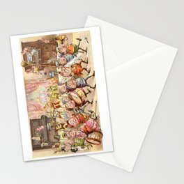 Victorian Trade Card with a Brownies marching band Stationery Cards