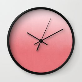 Ombre fade pastel trendy color way throwback retro palette 80s 90s style Wall Clock