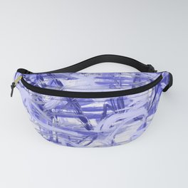 Light Blue Violet Abstract Fanny Pack