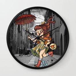 Cremona con loa pioggia Wall Clock