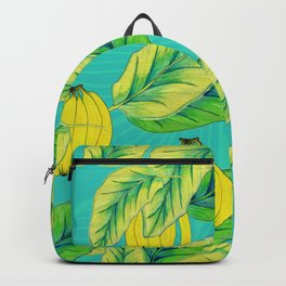 Banana Jungle - Blue Backpack