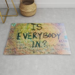 Is Everybody In Graffiti Morrison Room 32  Rug