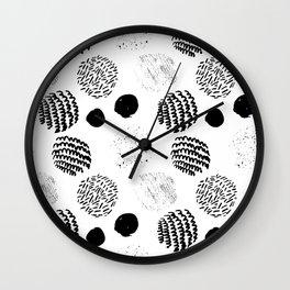 Abstract Hand Drawn Patterns No.5 Wall Clock