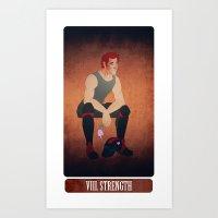 tarot - strength. Art Print