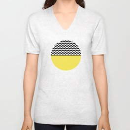 Moiety Yellow Unisex V-Neck