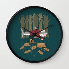 LumberJack Shark Wall Clock