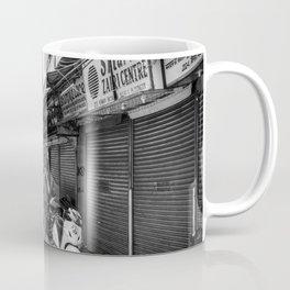 People walking in a street in Old Delhi, India Coffee Mug