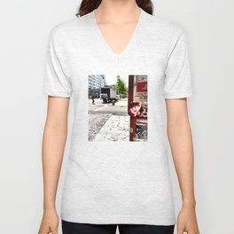 A Sighting of Whats Her Name Unisex V-Neck
