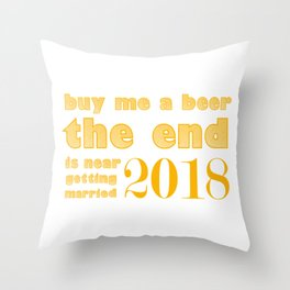 Wedding Party Groom Funny Throw Pillow