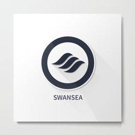 Swansea City Flat Design Metal Print