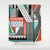 f1 Shower Curtains featuring yas by Gray