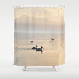 MYSTERIOUS SALTON SEA Shower Curtain